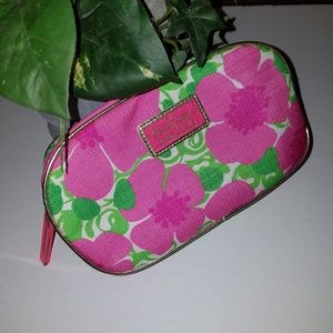 Lilly Pulitzer pink cosmetic make up bag new